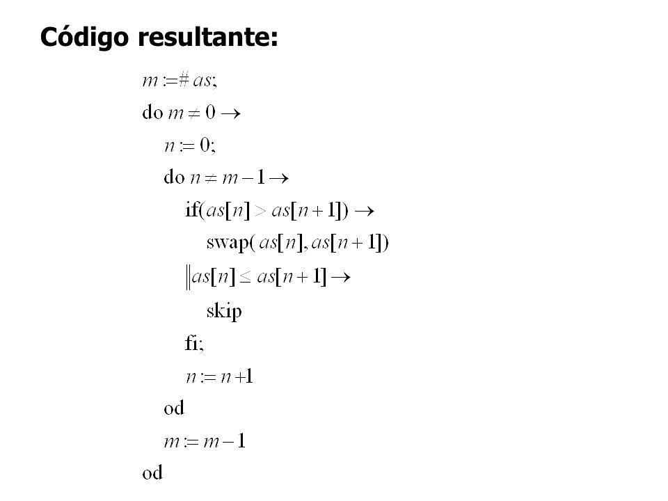 18 Código resultante:
