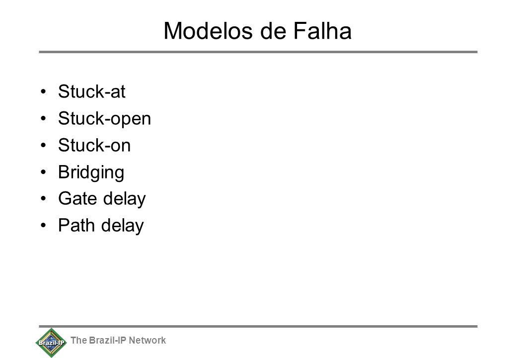 The Brazil-IP Network Modelos de Falha Stuck-at Stuck-open Stuck-on Bridging Gate delay Path delay