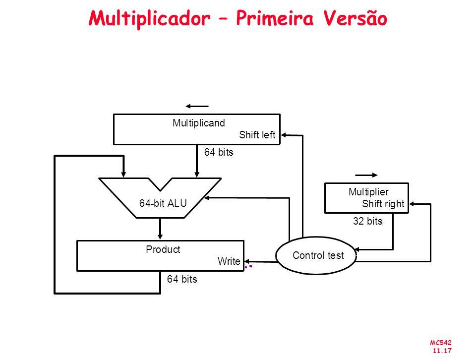 MC542 11.17 Multiplicador – Primeira Versão