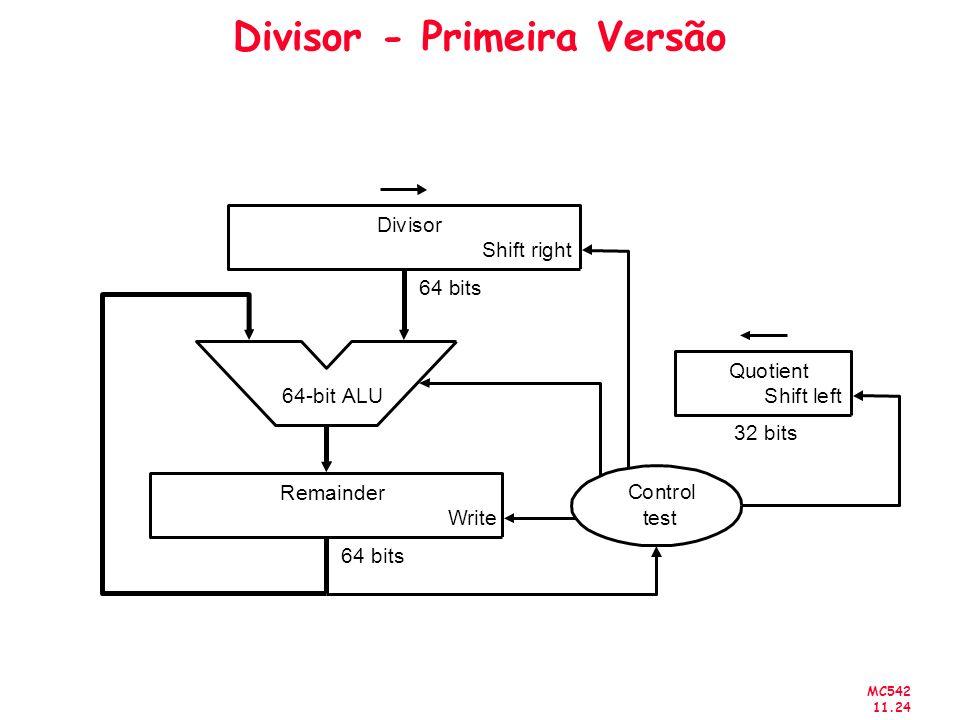 MC542 11.24 Divisor - Primeira Versão