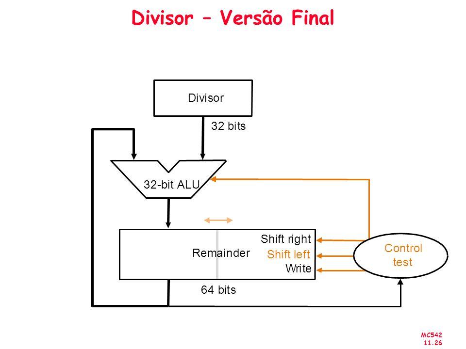 MC542 11.26 Divisor – Versão Final