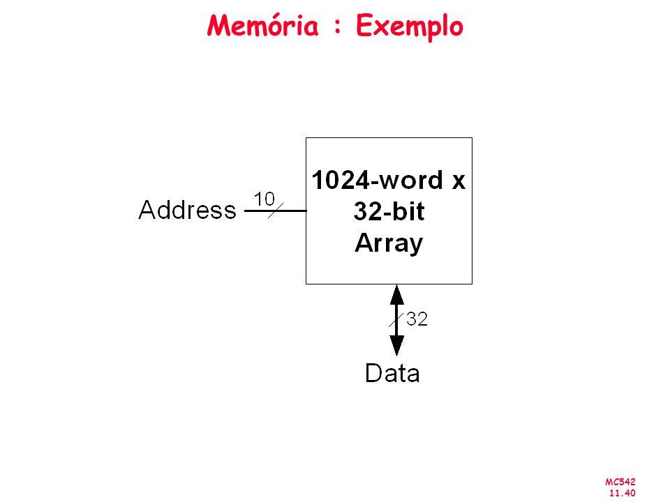 MC542 11.40 Memória : Exemplo