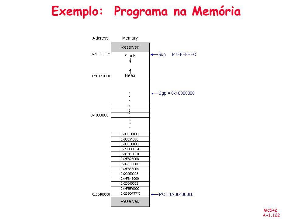 MC542 A-1.122 Exemplo: Programa na Memória