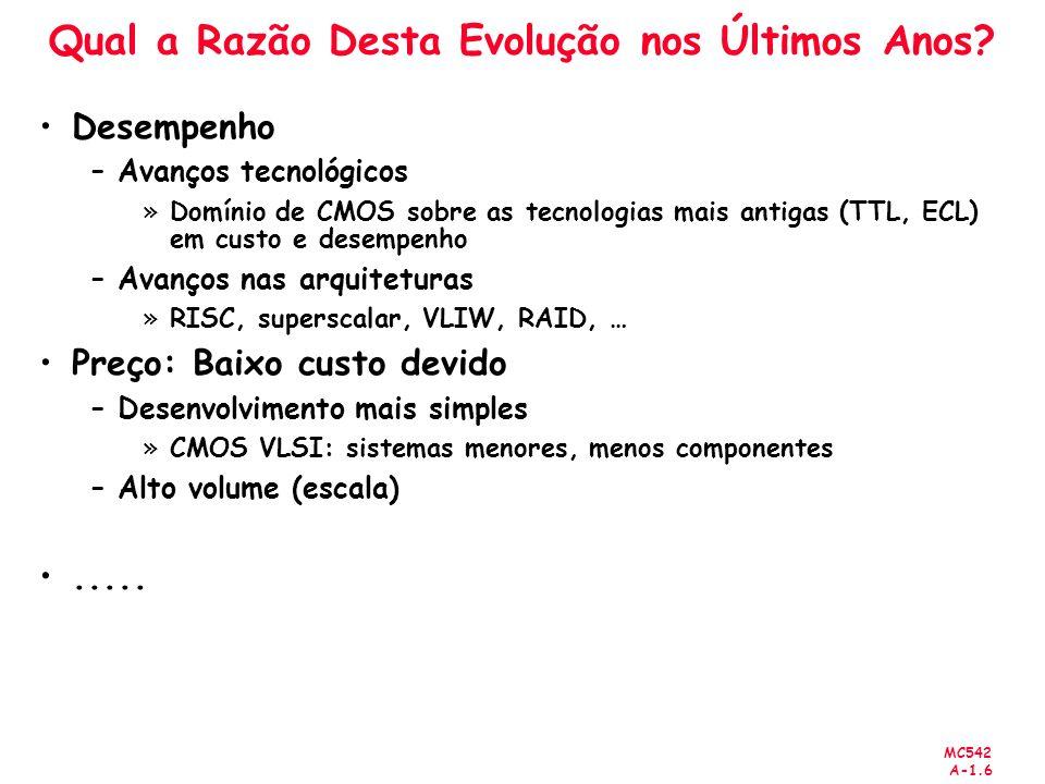 MC542 A-1.97 Argumentos e Retorno de Valores Código MIPS (assembly) # $s0 = result diffofsums: add $t0, $a0, $a1 # $t0 = f + g add $t1, $a2, $a3 # $t1 = h + i sub $s0, $t0, $t1 # result = (f + g) - (h + i) add $v0, $s0, $0 # put return value in $v0 jr $ra # return to caller diffofsums sobre-escreve 3 registradores: $t0, $t1, e $s0 diffofsums pode usar a pilha para armazenar temporariamente os registradores