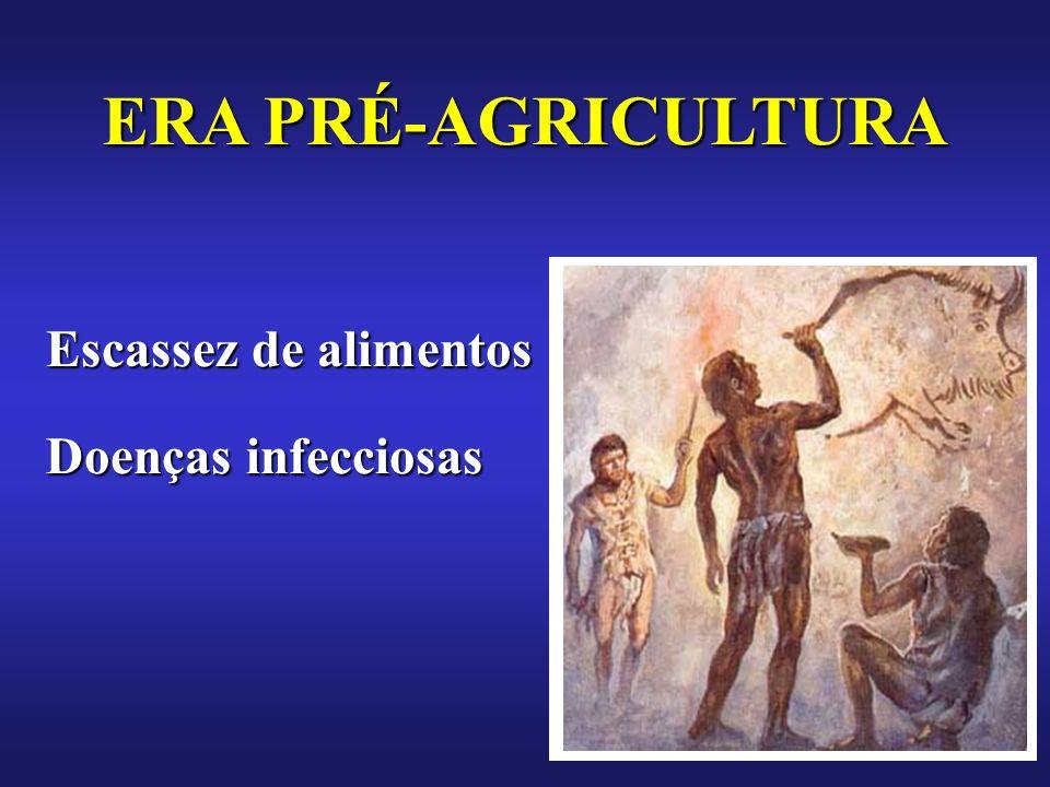 Escassez de alimentos Doenças infecciosas ERA PRÉ-AGRICULTURA
