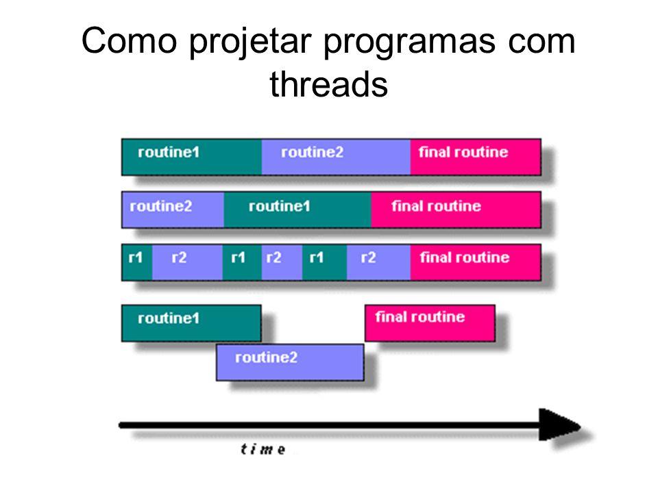 Como projetar programas com threads