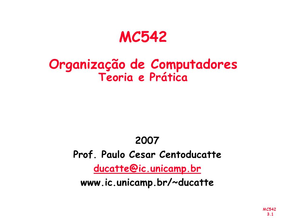 MC542 3.32 Exemplo x 2 1 x 3 x 4 x 5 x 6 x 7 f Circuit with AND and OR gates x 2 x 1 x 3 x 4 x 5 x 6 x 7 f Convertendo para NANDs