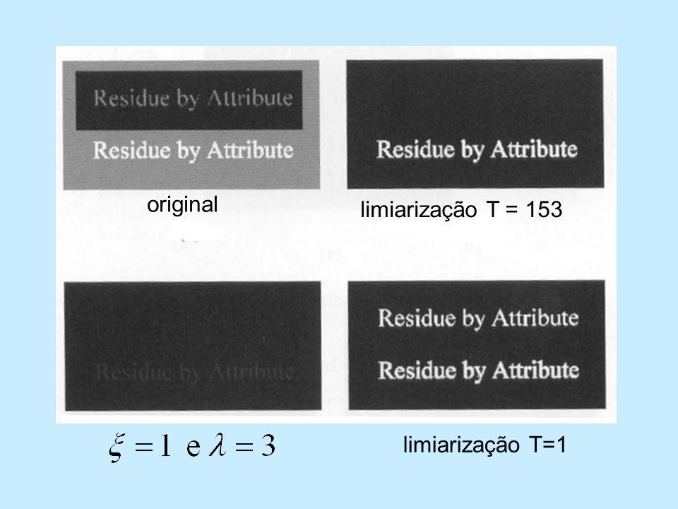 limiarização T = 153 original limiarização T=1