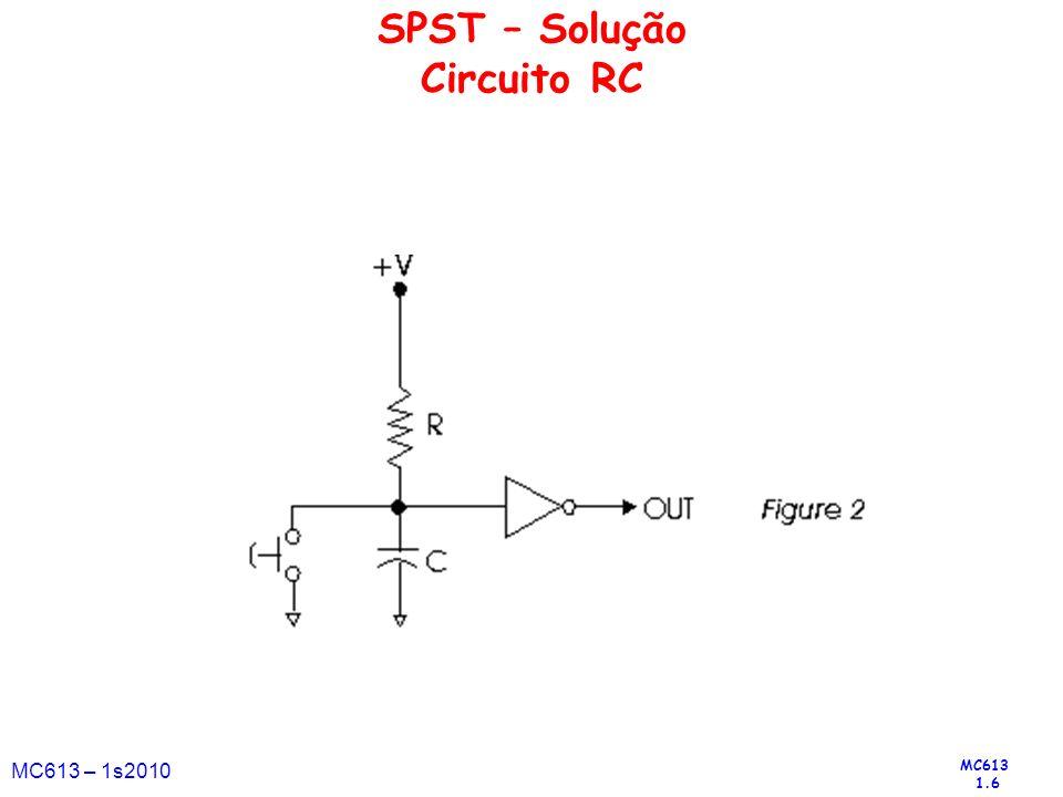 MC613 1.6 MC613 – 1s2010 SPST – Solução Circuito RC