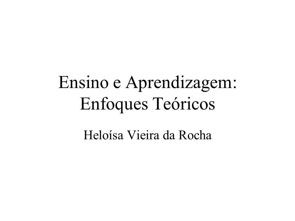 Ensino e Aprendizagem: Enfoques Teóricos Heloísa Vieira da Rocha
