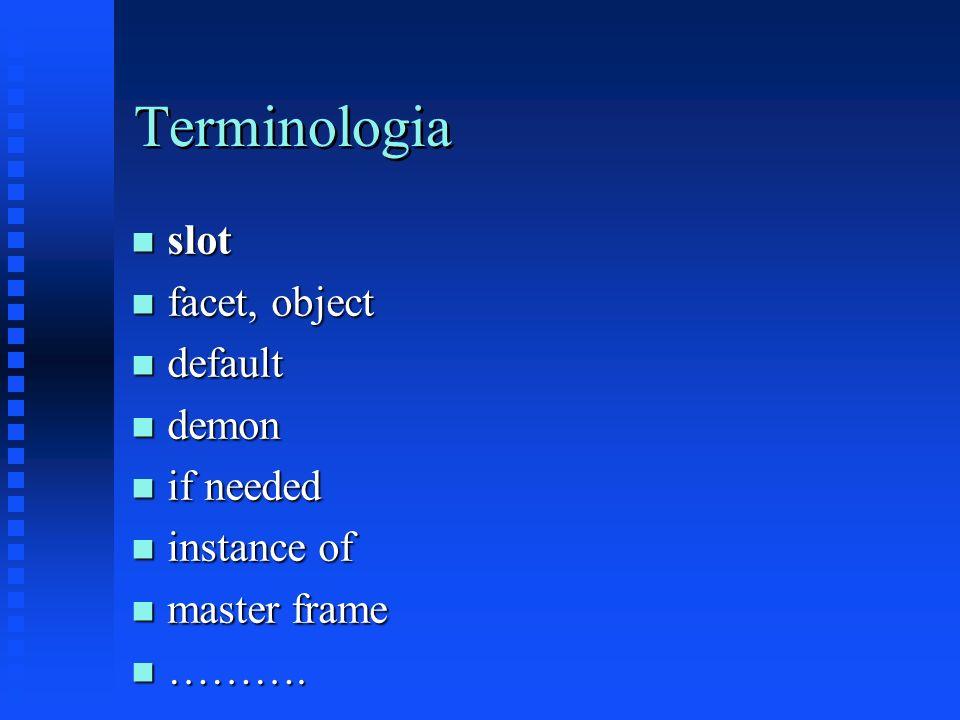 Capacidade dos frames n habilidade de claramente documentar informação sobre o modelo de um domínio u ex.: planta de uma máquina e seus atributos n habilidade de limitar valores que um atributo pode assumir n modularidade da informação, facilidade de expansão e manutenção n plataforma para construir interface gráfica com objetos gráficos