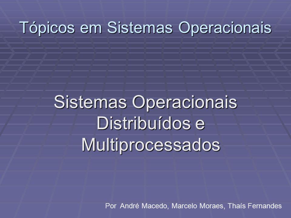 Tópicos em Sistemas Operacionais Sistemas Operacionais Distribuídos e Multiprocessados Por André Macedo, Marcelo Moraes, Thaís Fernandes