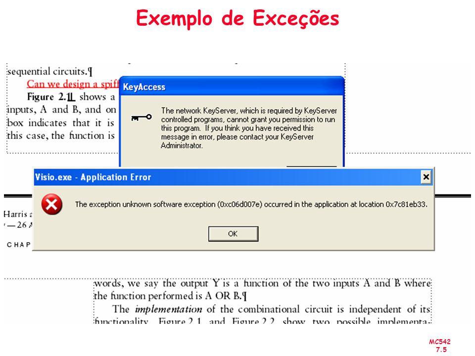 MC542 7.5 Exemplo de Exceções