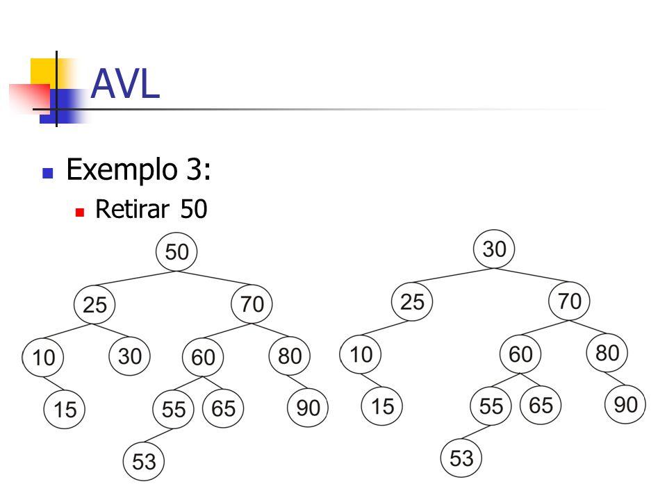AVL Exemplo 3: Retirar 50