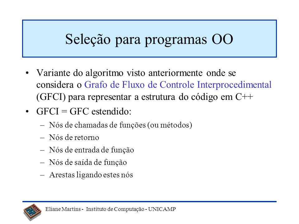 Eliane Martins - Instituto de Computação - UNICAMP 26 Exemplo P if A then B else C; if D then if E then F else J; G; if H1 then K else L; else if H2 t