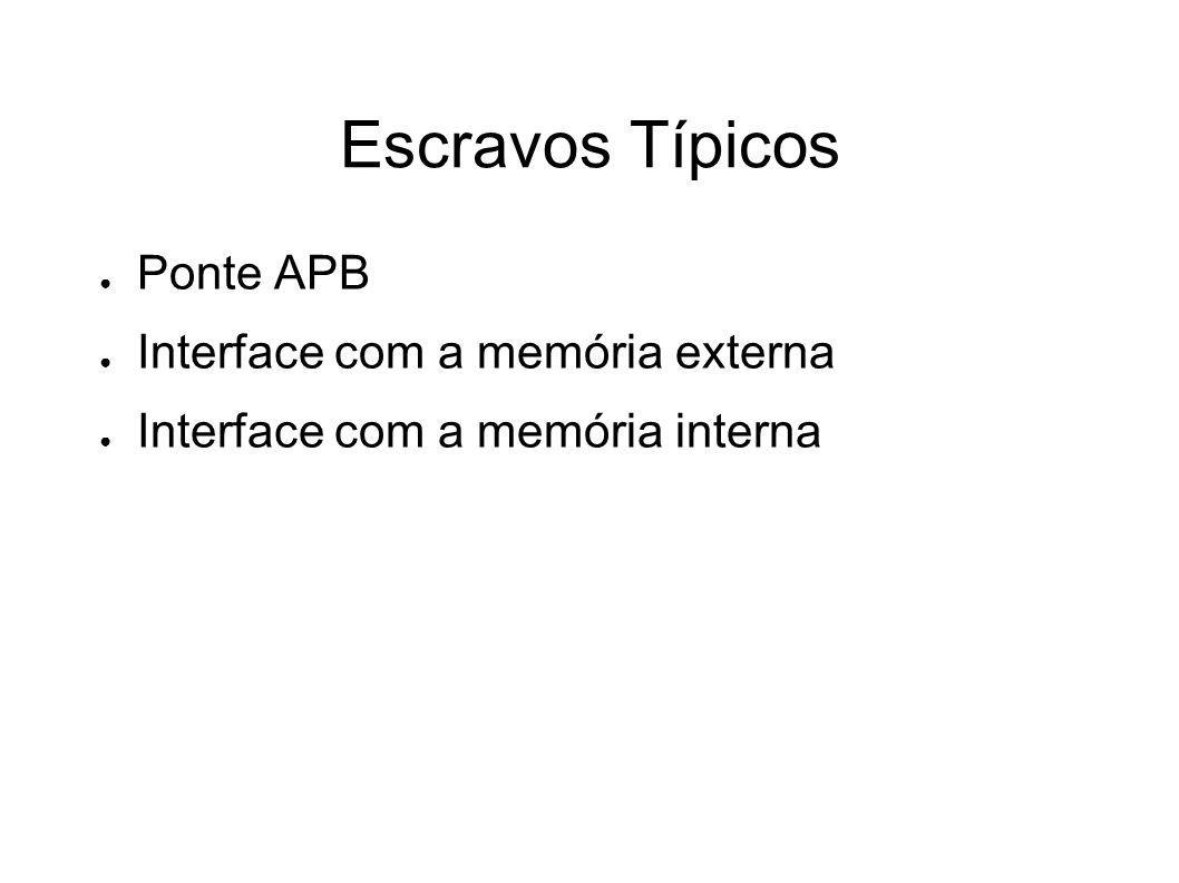Escravos Típicos Ponte APB Interface com a memória externa Interface com a memória interna