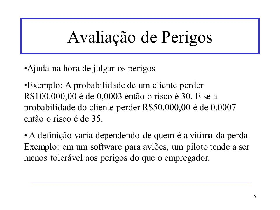 16 Referências www.safeware-eng.com Software Engineering – Sommerville 6ª edição Safe and Reliable Computer Control Systems - Concepts and Methods - Henrik Thane www.event-tree.com www.eps.ufsc.br/disserta96/anete/index/indx_ane.htm