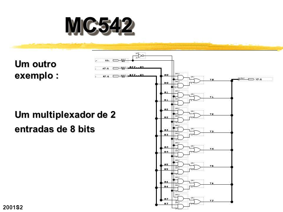 2001S2 MC542MC542 Um outro exemplo : Um multiplexador de 2 entradas de 8 bits
