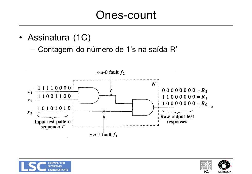 Ones-count Assinatura (1C) –Contagem do número de 1s na saída R