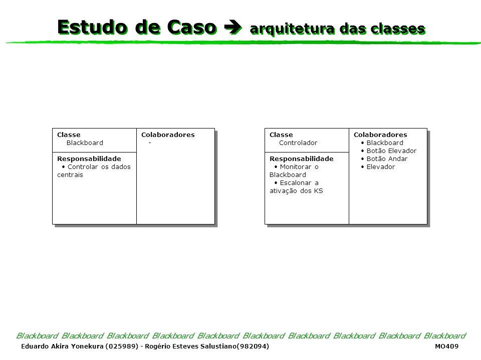 Eduardo Akira Yonekura (025989) - Rogério Esteves Salustiano(982094) MO409 Estudo de Caso arquitetura das classes Classe Blackboard Responsabilidade C