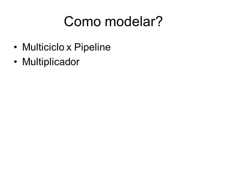 Como modelar? Multiciclo x Pipeline Multiplicador