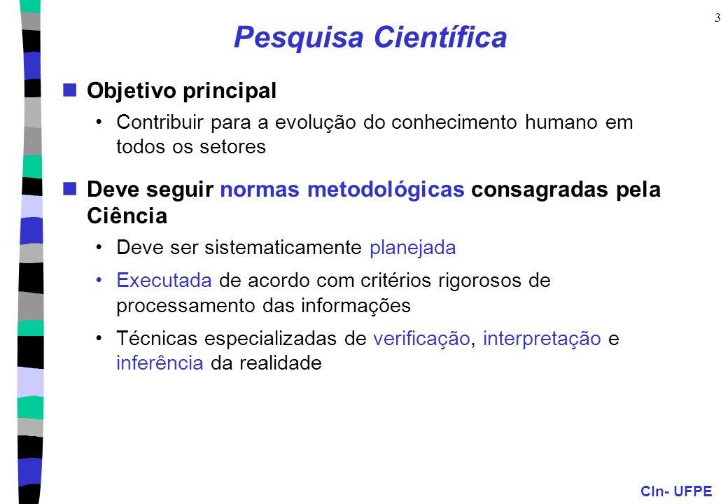 CIn- UFPE 14 Pesquisa Bibliográfica: Etapas (cont.) 5.