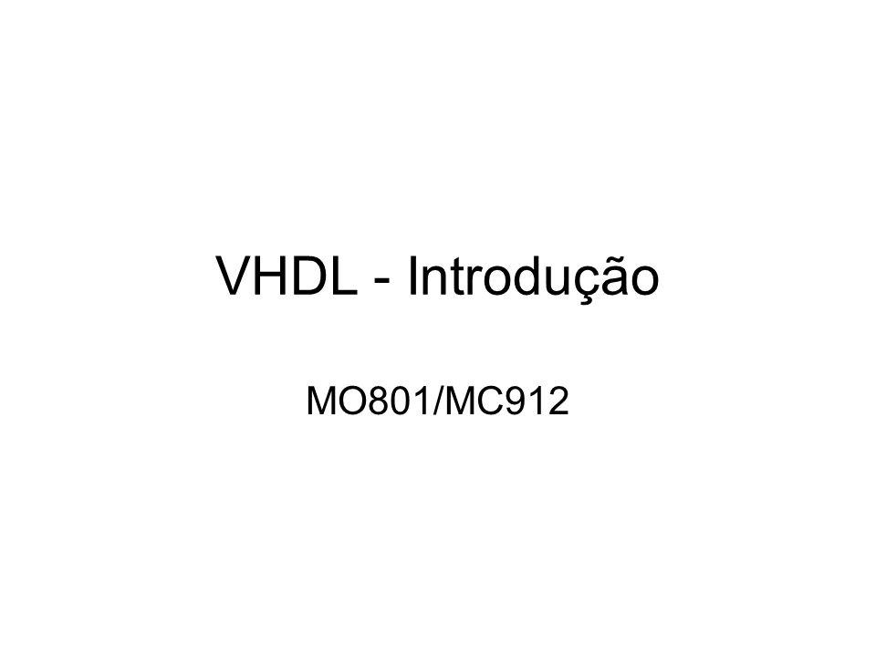 VHDL - Introdução MO801/MC912