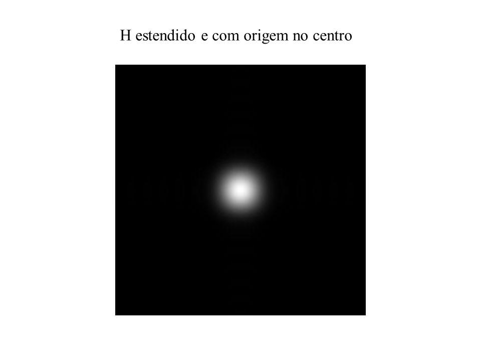 H estendido e com origem no centro