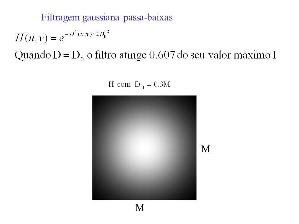Filtragem gaussiana passa-baixas M M