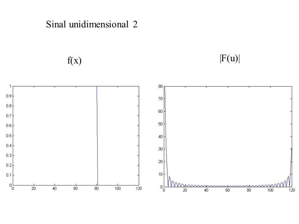Sinal unidimensional 2 f(x)  F(u) 