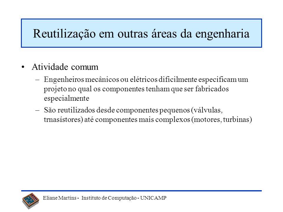 Eliane Martins - Instituto de Computação - UNICAMP Paradigma find-bind-execute Repositório de Serviços Consumidor de Serviços Provedor de Serviços ClienteServiço Busca (find) Publica barramento Conecta (bind-execute)