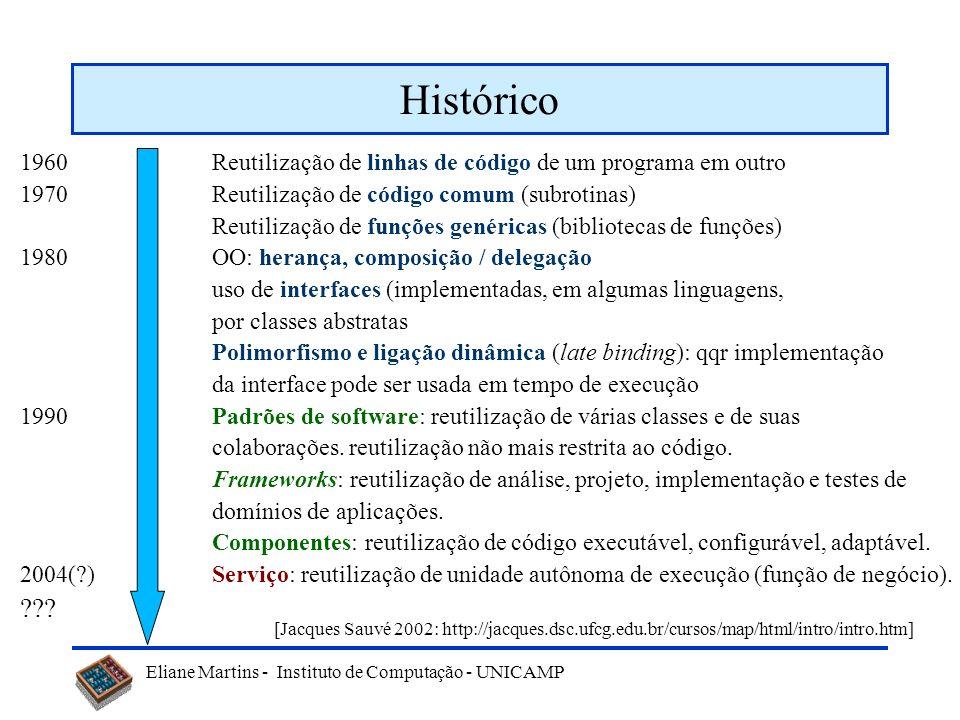 Eliane Martins - Instituto de Computação - UNICAMP Exemplo Sistema de reserva de hotel...