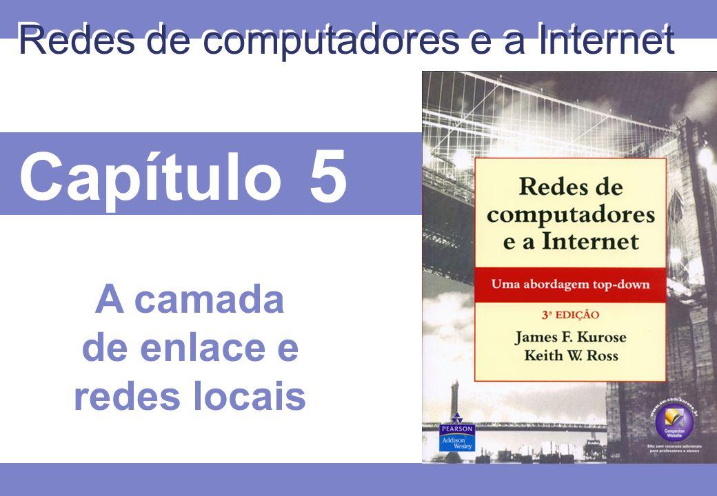 Capítulo 5 Redes de computadores e a Internet A camada de enlace e redes locais
