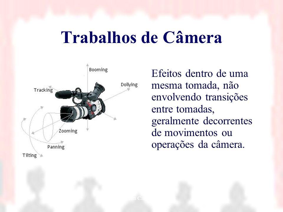 Nielsen Cassiano Simões11 Trabalhos de Câmera Efeitos dentro de uma mesma tomada, não envolvendo transições entre tomadas, geralmente decorrentes de m