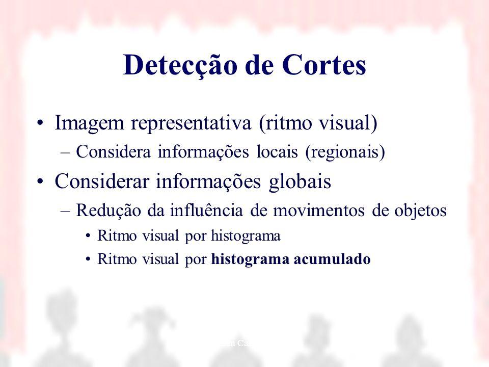 Nielsen Cassiano Simões16 Detecção de Cortes Imagem representativa (ritmo visual) –Considera informações locais (regionais) Considerar informações glo