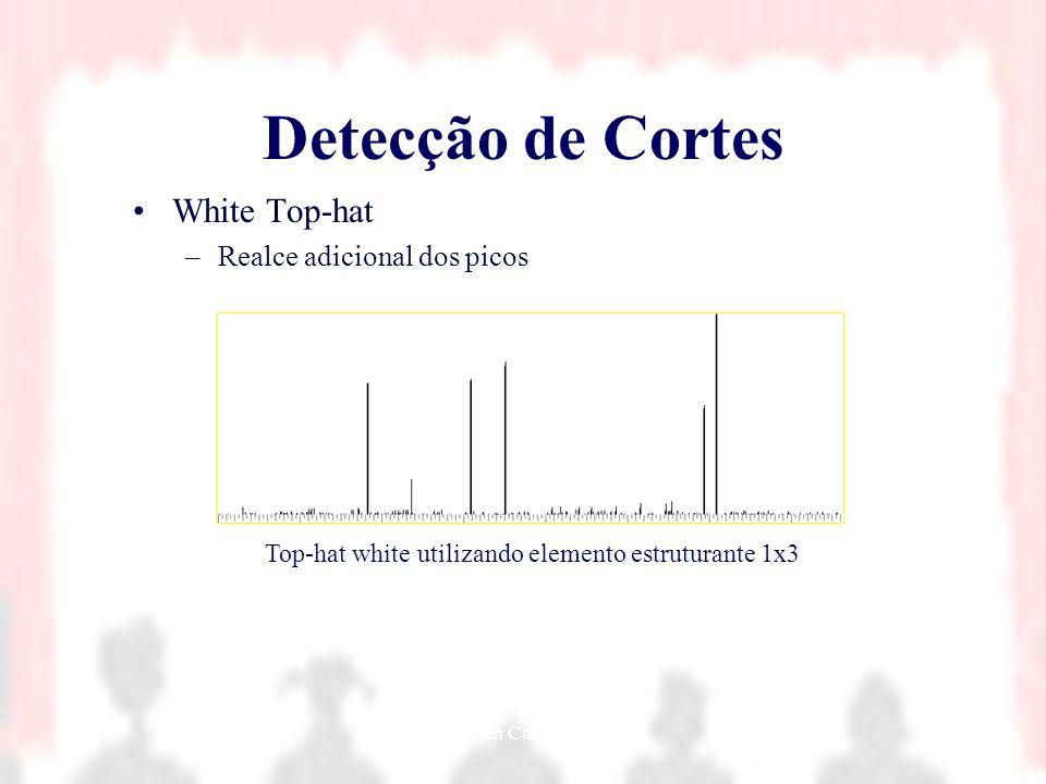 Nielsen Cassiano Simões21 Detecção de Cortes White Top-hat –Realce adicional dos picos Top-hat white utilizando elemento estruturante 1x3