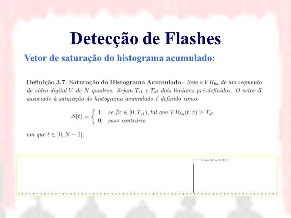 Nielsen Cassiano Simões30 Detecção de Flashes Vetor de saturação do histograma acumulado: