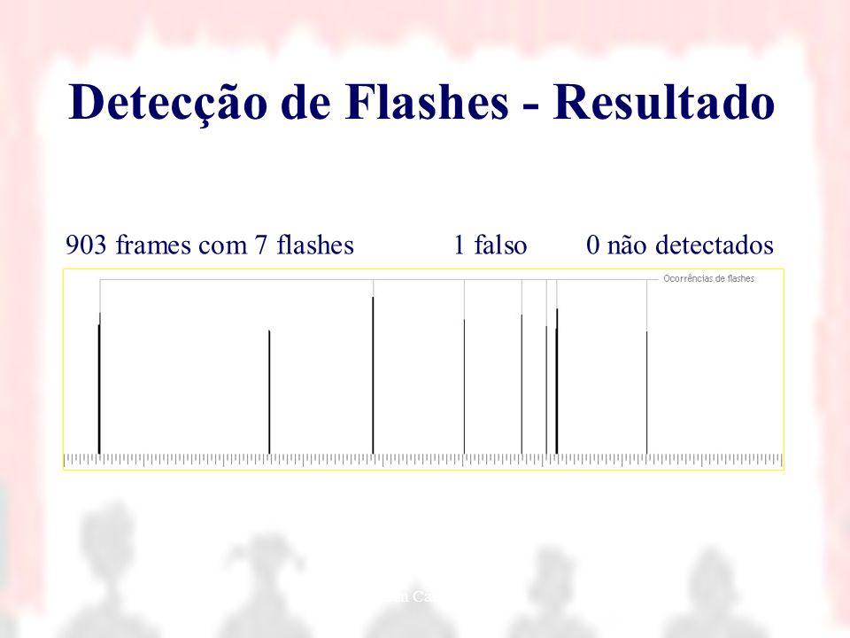 Nielsen Cassiano Simões36 Detecção de Flashes - Resultado 903 frames com 7 flashes1 falso0 não detectados