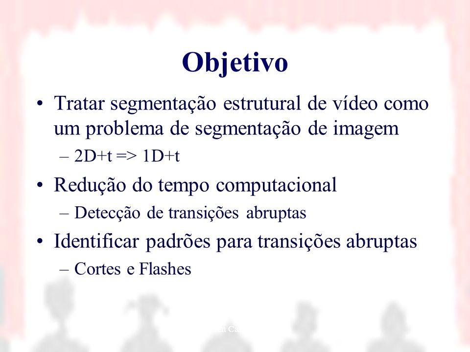 Nielsen Cassiano Simões4 Objetivo Tratar segmentação estrutural de vídeo como um problema de segmentação de imagem –2D+t => 1D+t Redução do tempo comp