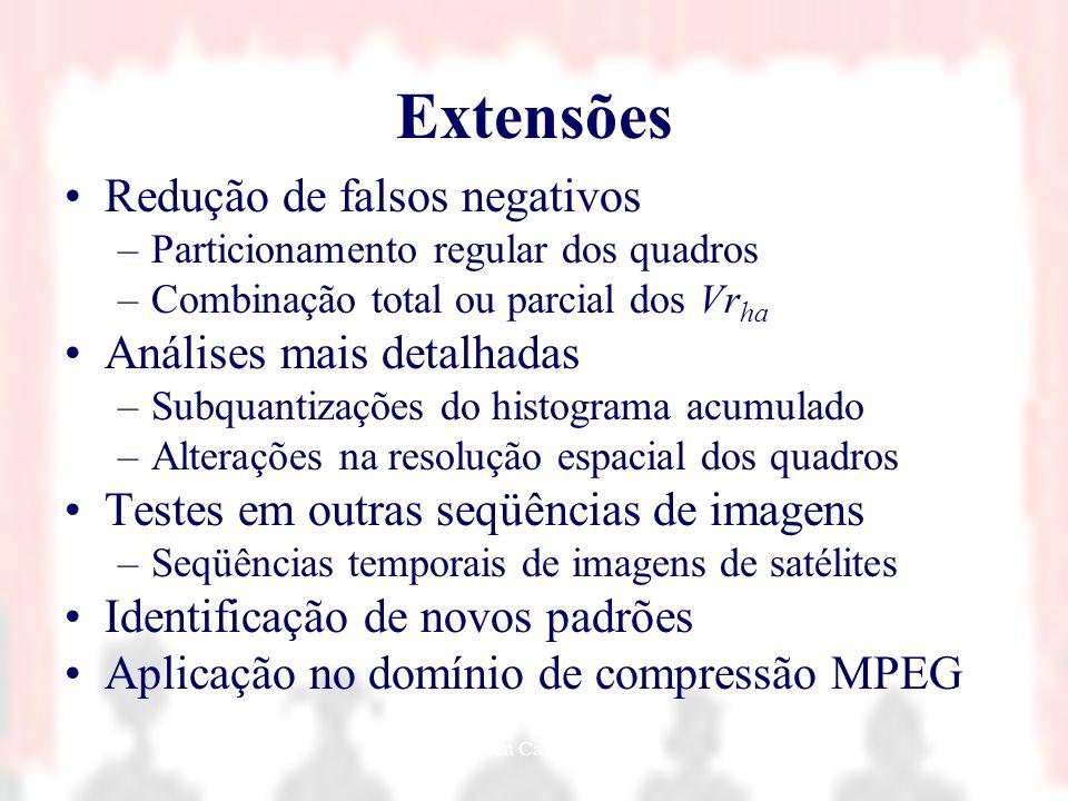 Nielsen Cassiano Simões47 Extensões Redução de falsos negativos –Particionamento regular dos quadros –Combinação total ou parcial dos Vr ha Análises m