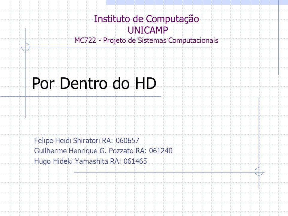 Introdução HDs são unidades de armazenamento de dados Não-volátil Tópicos -História -Estrutura -Densidade de armazenamento -Gravação e leitura de dados -Geometria dos discos -Detecção de erros -Padrões e tecnologias