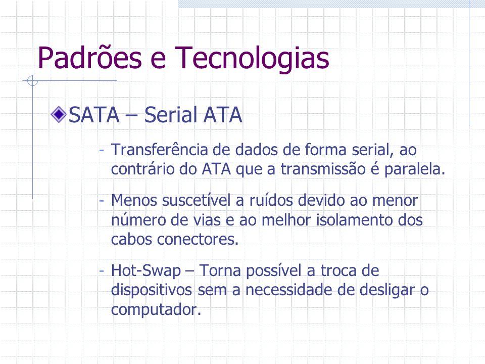 Padrões e Tecnologias Conector SATA