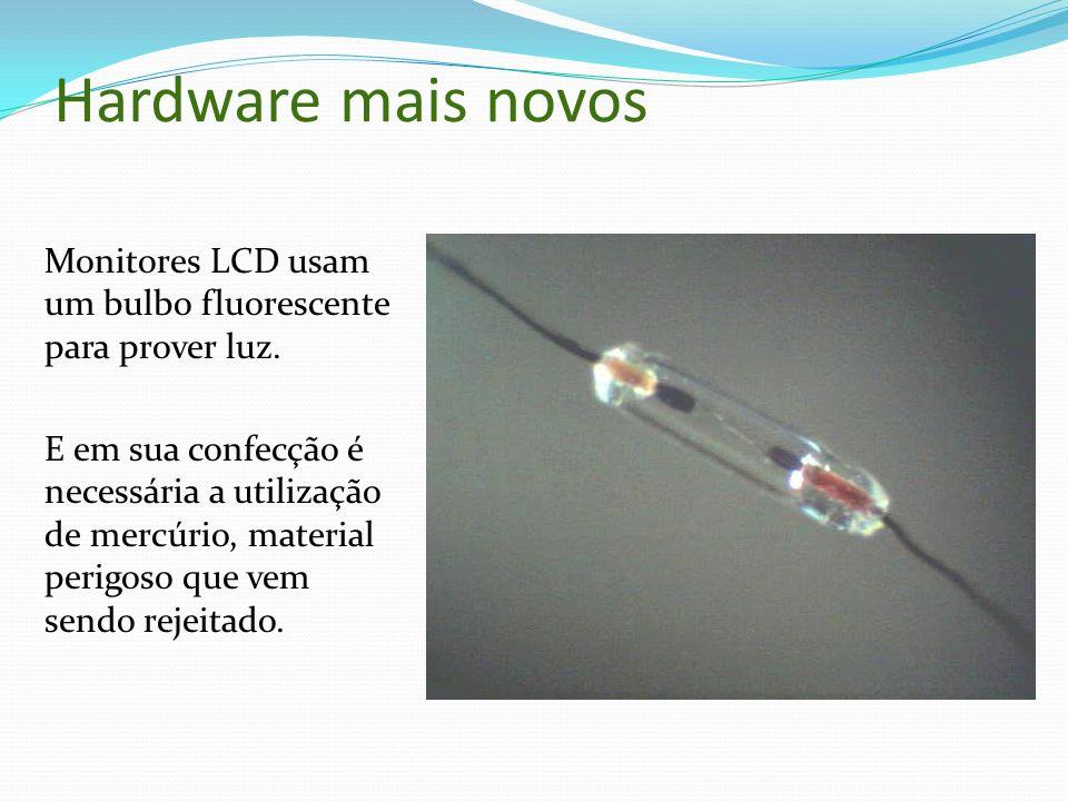 Hardware mais novos Monitores LCD usam um bulbo fluorescente para prover luz. E em sua confecção é necessária a utilização de mercúrio, material perig