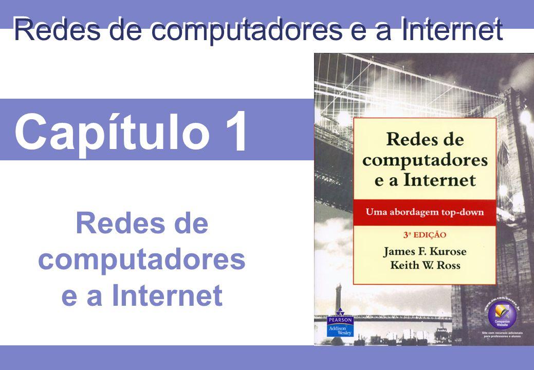 1 © 2005 by Pearson Education 1 - 22 Comutação de pacotes permite que mais usuários usem a mesma rede.
