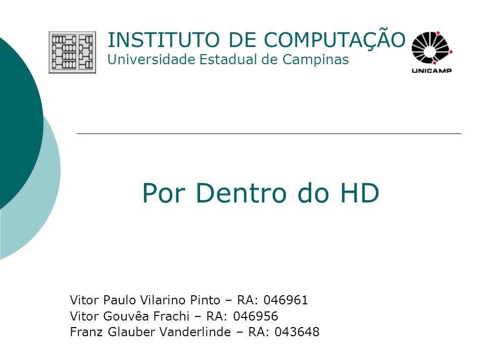 Por Dentro do HD Vitor Paulo Vilarino Pinto – RA: 046961 Vitor Gouvêa Frachi – RA: 046956 Franz Glauber Vanderlinde – RA: 043648 INSTITUTO DE COMPUTAÇ