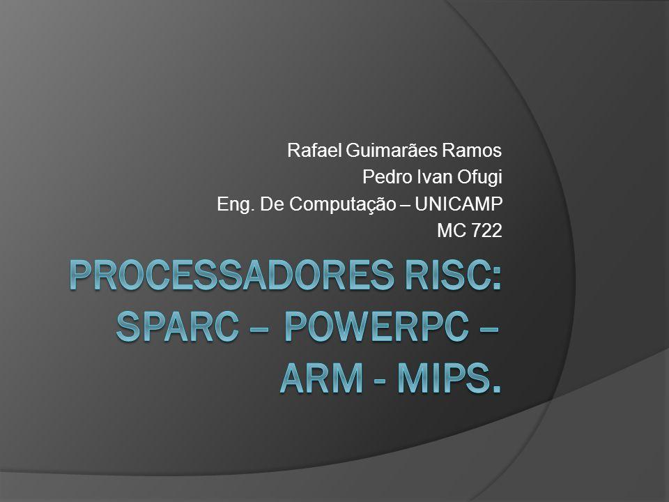Rafael Guimarães Ramos Pedro Ivan Ofugi Eng. De Computação – UNICAMP MC 722