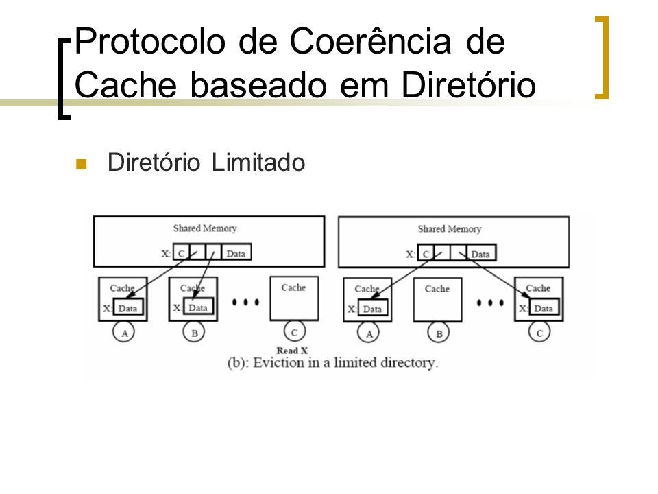 Protocolo de Coerência de Cache baseado em Diretório Diretório Limitado