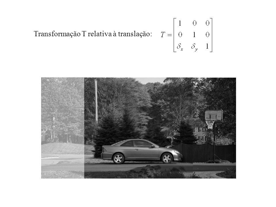 Transformação T relativa à translação: