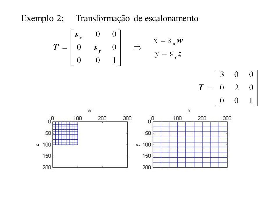 ABC DEF GHI 0 0 1 2 1 2 Mapeamento: C B?F A,DEH.I G 0 1 0 1 2 3 T Exemplo: nova imagem f espaço original g .