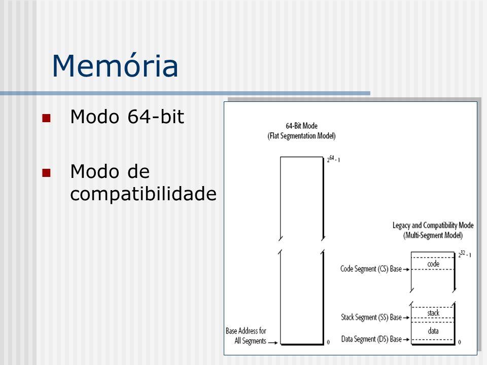 Memória Modo 64-bit Modo de compatibilidade